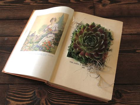 what s old is new and upcyclded vintage at latelierhomevan 30 day adventures items similar to upcycled vintage book planter for