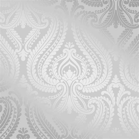 i love wallpaper shimmer damask wallpaper soft grey silver ebay