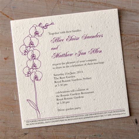 Orchid Theme Wedding Invitations orchid wedding invitations flamingo