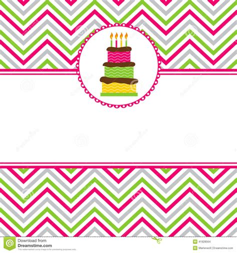 template for birthday card with photo happy birthday card stock vector illustration of card