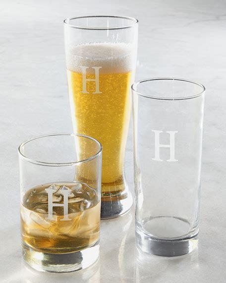 monogrammed barware monogrammed glass barware