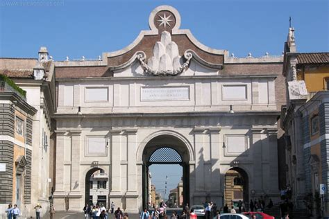 porta popolo porta popolo at piazza popolo rome pictures