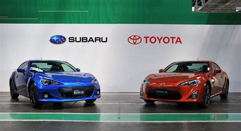 toyota gt86 and subaru brz subaru brz and toyota gt 86 production underway photo