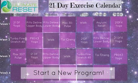 21 Day Detox Calendar by 25 Best Ideas About Ultimate Reset On
