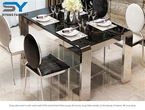 dining room table parts stainless steel restaurant dining table modern dining room