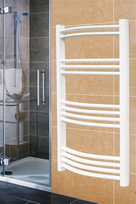 white towel rails for bathrooms white curved bathroom heated towel rail radiator warmer