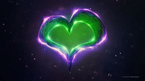 wallpaper green love green purple love heart wallpapers hd wallpapers id 18489
