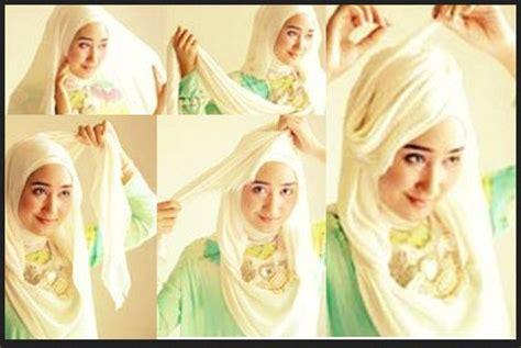tutorial hijab pesta terbaru 2014 foto gambar video kumpulan tutorial hijab segi empat