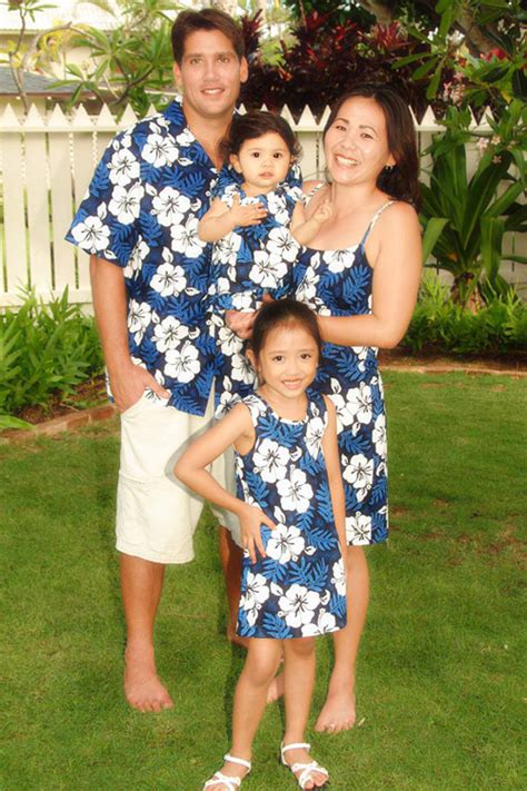 family clothes white hibiscus fern matching family clothes