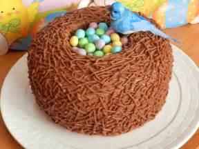 kuchen ostern easter bird nest cake