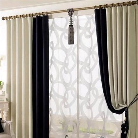 Black And Curtain Panels Black And White Eco Friendly Living Room