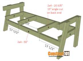 3 chair bench chair bench plans step by step plans construct101