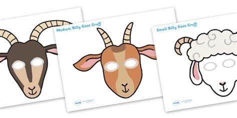 printable masks three billy goats gruff the three billy goats gruff role play masks three billy