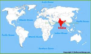 India On The Map by Gallery For Gt India World Map