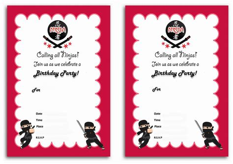 printable naruto birthday invitations ninja warriors birthday invitations birthday printable