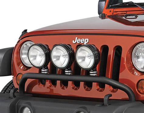jeep wrangler unlimited light bar olympic 4x4 products front bumper mount light bar for 07