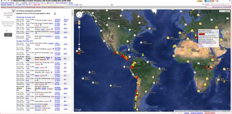 recent earthquakes map geography brambletye live volcano and earthquake map