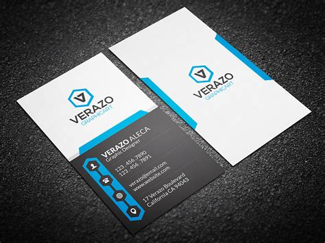 Modern Business Card Template Vertical by Creative Vertical Business Card Business Card Templates