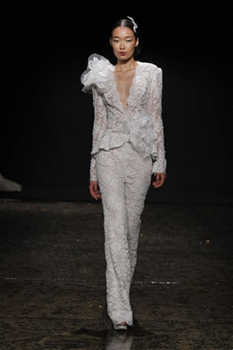 The Bridal Pants Suit: Fall 2014 Bridal Trends   Pretty