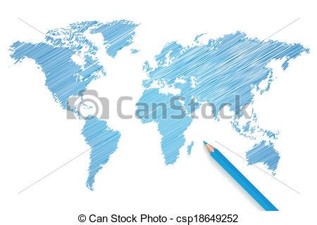 clipart mondo matita vettore colorato mappa mondo matita colorato