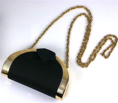 rodo black satin clutch at 1stdibs