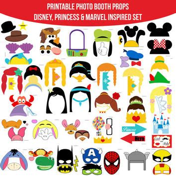 printable photo booth props princess instant download huge combined set 35 from