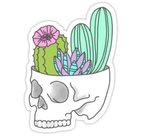 Trippy Home Decor by Quot Skull Succulent Feminist Skeleton Cactus Southwest Girly