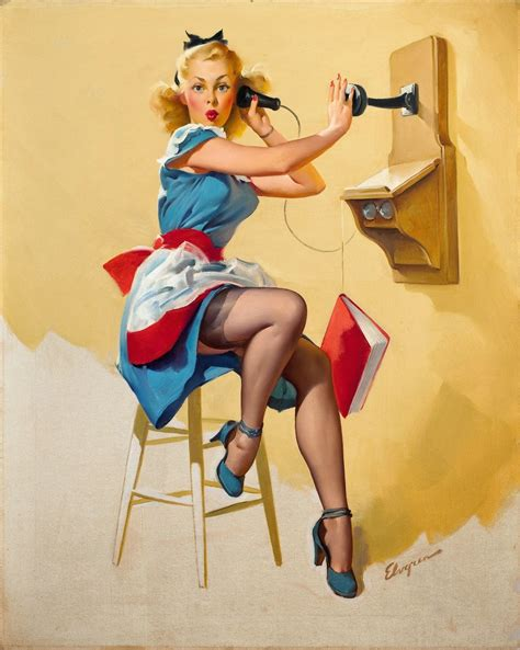 pin up gil elvgren pin up and cartoon girls art vintage and
