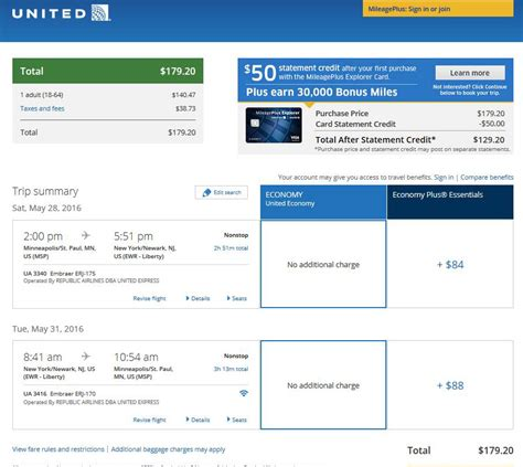 united airlines booking 180 185 minneapolis to nyc nonstop r t fly com
