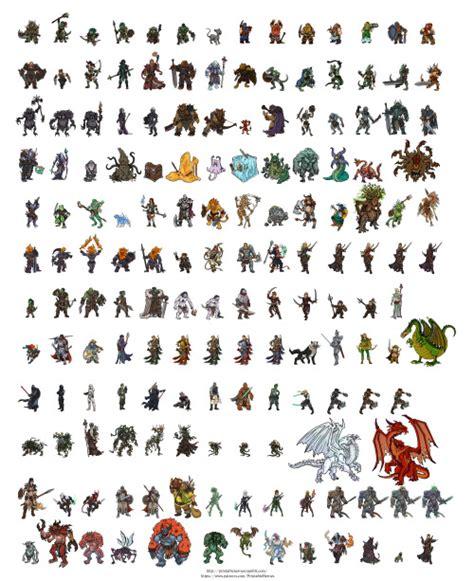 Printable Paper Miniatures D D | printable heroes tumblr