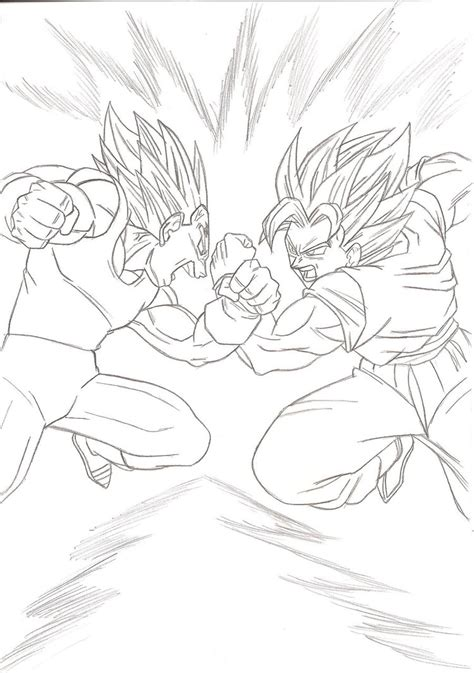 goku vs vegeta coloring pages games goku vs majin vegeta ssj2 drawing car interior design