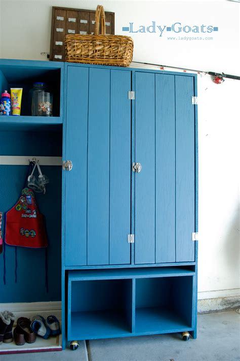 diy locker projects white modular family mudroom locker hutch diy projects