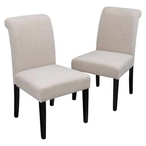 canberra roll top bonded leather dining chairs w target