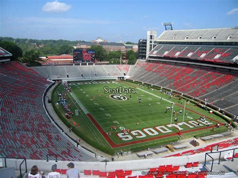Sanford Section 8 by Sanford Stadium Section 322 Seat Views Seatscore