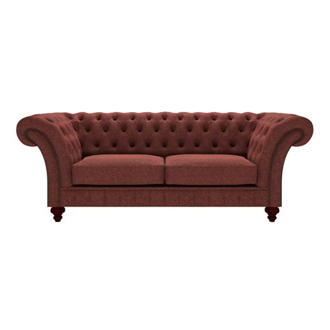 herringbone sofa grosvenor 3 seater sofa in wool herringbone paprika