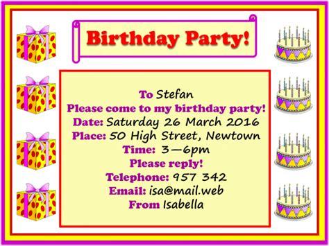 birthday invitation letter writing birthday invitation learnenglish