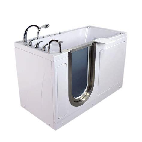 5 foot whirlpool bathtub ella ultimate 5 ft x 30 in acrylic walk in dual air and