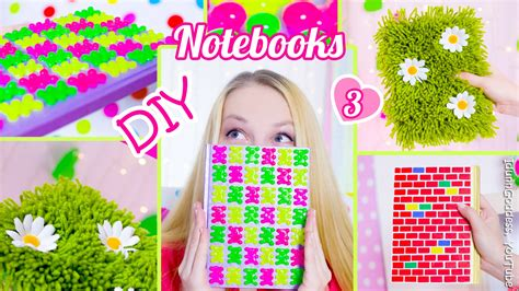 Decorating Notebooks For School by 3 Diy Notebooks How To Decorate Notebook Covers Diy