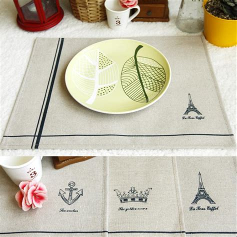 Handmade Mats - 4pcs europe table mats pads placemat handmade table plate