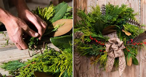 how to make a wreath diy make a wreath using greenery from your own backyard