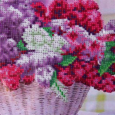 crystal home decor wholesale 5d diy rhinestone pasted cross stitch lavender european