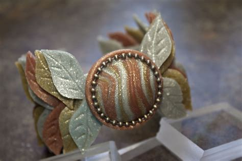 Clay Giveaways - sculpey leaf cuff bracelet tutorial polyform clay giveaway craft paper scissors