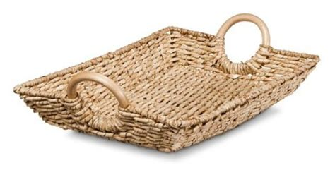 Threshold Knit Mattress Protector by Threshold Decorative Woven Basket Tray With Wood