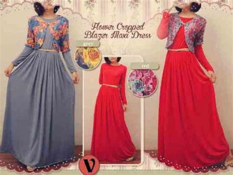 Dress Cantik Free Belt Murah maxi dress burga model baru flower crope blazer with