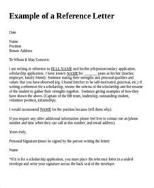 reference letter formats
