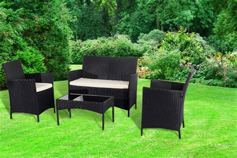 Garden Furniture Deals Wowcher Deal 163 199 For A 4 Rattan Garden