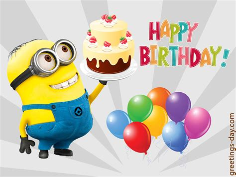 Minion Gift Card - 100 minion cards to wish a happy birthday holidays and observances