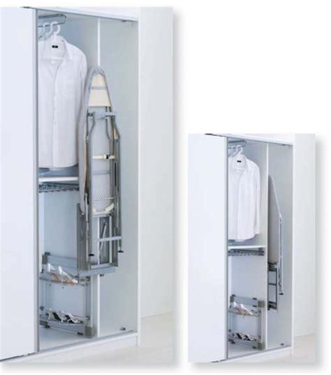 mueble para tabla de planchar tabla planchar interior armario extraible guias y