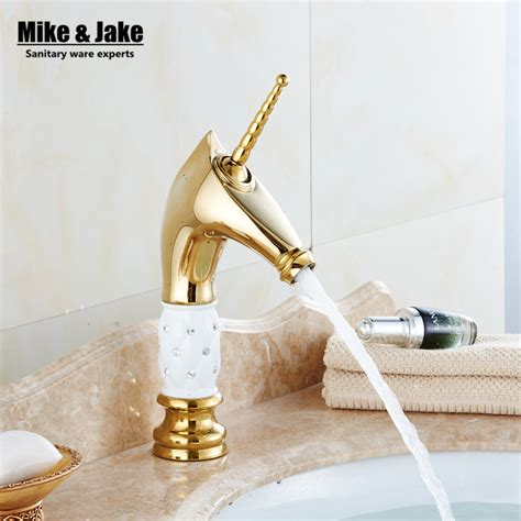 unicorn bathroom accessories free shipping golden unicorn faucets bathroom crystal body