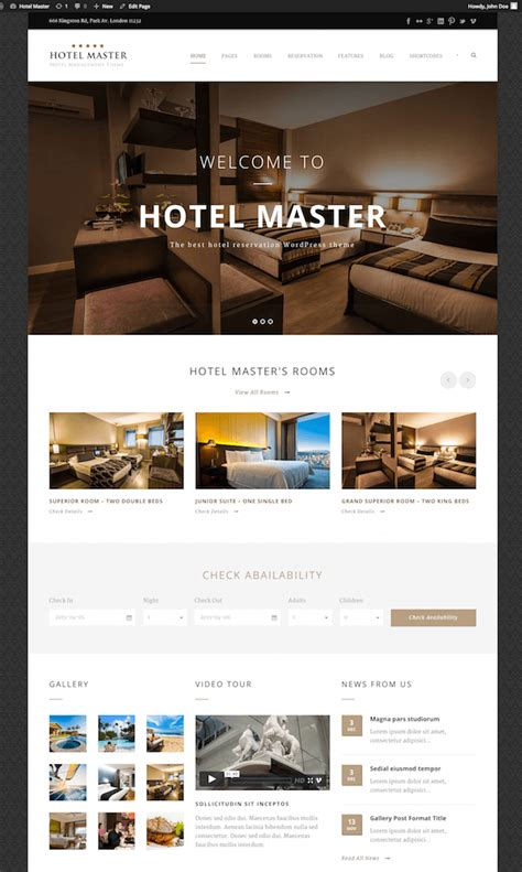 theme hotel master 20 best wordpress themes for hotels 2017 wildemuse com